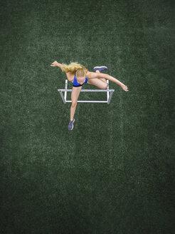 Jumping hurdler, top view - STSF01283