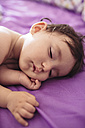 Portrait of sleeping baby girl - GEMF01749