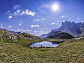 Italy Lombardy, Passo di Val Viola, view of Corno di Dosde - LAF01863