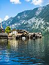 Austria, Salzkammergut, Lake Hallstatt with Hallstadt - AMF05436