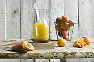 Apricot smoothie in carafe - ASF06099