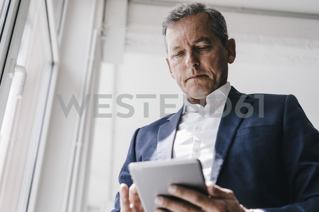 Businessman using cell phone - KNSF02362