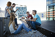 Business people having a casual meeting on a rooftop terrace - ZEF14330