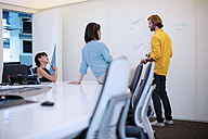 Business people having a meeting in office, brainstorming - ZEF14390