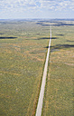 USA, Aerial photograph of Highway 59 south of Grover, Colorado - BCDF00321