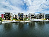 Germany, Hesse, Offenbach, modern architecture at harbor - AMF05464