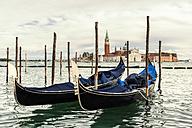 Italy, Venice, gondolas in front of San Giorgio Maggiore - CSTF01367