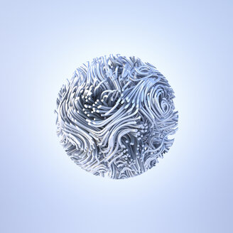 Abstract metal sphere, 3d rendering - AHUF00429