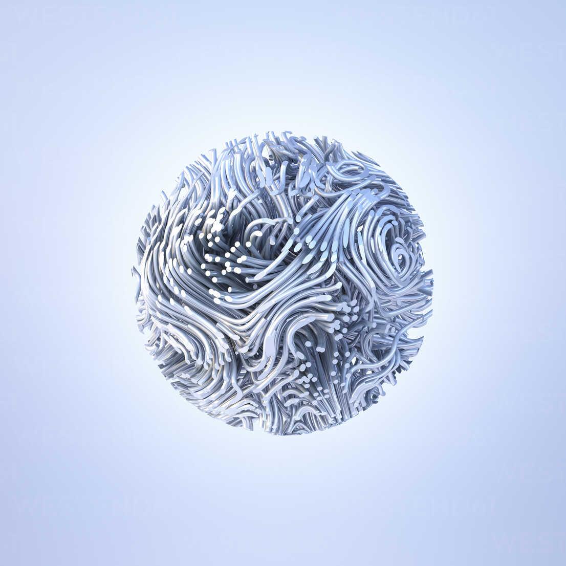 Abstract metal sphere, 3d rendering - AHUF00429 - Anna Huber/Westend61