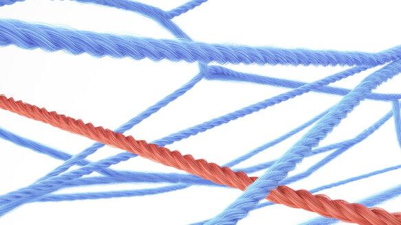 Network of strings, 3d rendering - AHUF00432