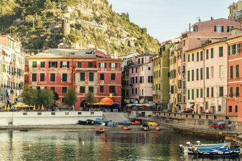 Italy, Liguria, Cinque Terre, Vernazza, harbor - CSTF01390