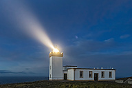 UK, Scotland, Caithness, Duncansby Head, Duncansby Head Lighthouse at blue hour - FOF09296
