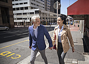 Mature couple walking in the city - WESTF23527
