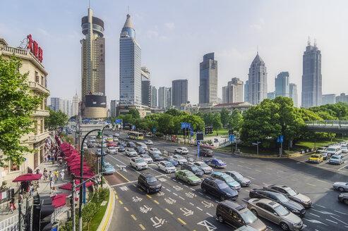 China, Shanghai, Lujiazui, view to skyline - THAF01974