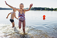 Children having fun at lakeshore - MJF02182