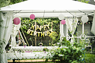 Preparation for Birthday Party in the garden - MOEF00136