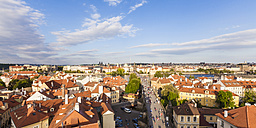 Czech Republic, Prague, cityscape with old town, Charles Bridge and Vltava - WDF04087