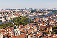 Czech Republic, Prague, cityscape with old town, bridges and Vltava - WDF04102