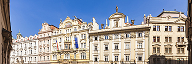 Czech Republic, Prague, Old Town Square, row of houses with trade ministry - WDF04123