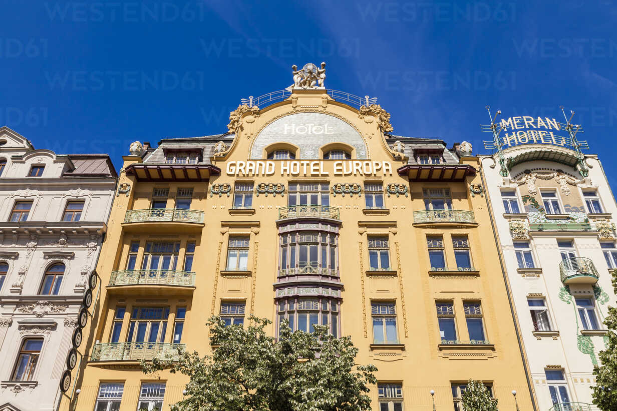 Czech Republic Prague New Town Grand Hotel Europa And Hotel Meran Wd04147 Werner Dieterich Westend61