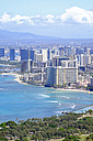 USA, Hawaii, Honolulu cityscape as seen from Diamond Head - HLF01015
