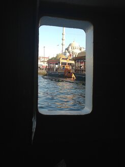 Istanbul seen through window of a ship - LMF00734