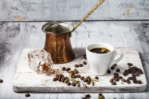 Cup of Arabian Coffee and ingredients - SBDF03296