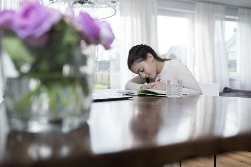 Girl doing homework - SBOF00645
