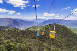 China, Yunnan, Lijiang, cable car towards Yak Meadow - THAF02015