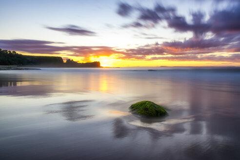 uK, Scotland, East Lothian, North Berwick, Firth of Forth, Tantallon Castle at sunset - SMAF00824