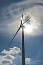 Wind turbine in backlight - FRF00550