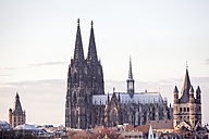 Germany, Cologne, view to city hall, Cologne Cathedral and Gross Sankt Martin - MMAF00133