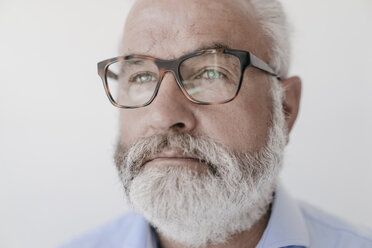 Portrait of serious mature man with beard and glasses - JOSF01695