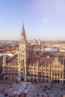 Germany, Munich, view to New Town Hall at Marienplatz from above - MMAF00137