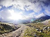 Italy, Lombardy, Gavia Pass, hiking trail - LAF01891