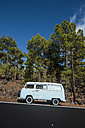 Spain, Tenerife, van parked at roadside - SIPF01775