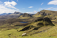 UK, Scotland, Inner Hebrides, Isle of Skye, Trotternish, Quiraing, view towards Loch Cleat - FOF09370