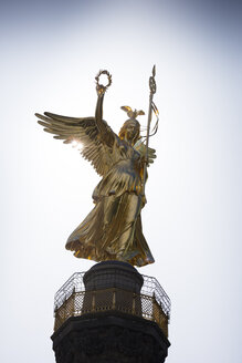 Germany, Berlin, goddess of victory on Berlin Victory Column at backlight - WIF03437