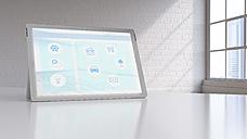 Smart home app on digital tablet - UWF01259
