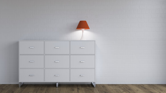 Burning lamp on sideboard - UWF01262