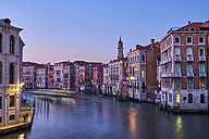 Italy, Venice, anal Grande at blue hour - MRF01716