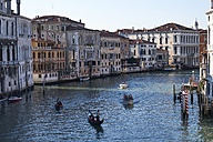 Italy, Venice, Gondolas on Canal Grande - MR01728