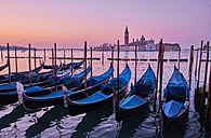 Italy, Venice, View of Giudecca from St Mark's Square with gondolas - MRF01737