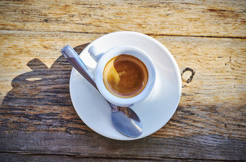 Espresso cup on wood - DIKF00277