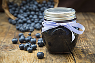Homemade blueberry jam in jar - LVF06280