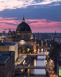 Germany, Berlin, elevated city view at morning twilight - SPPF00003