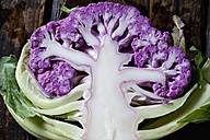Half of purple cauliflower, close-up - CSF28296