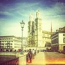 Switzerland, Zurich, view to Great Minster - PUF00761