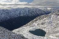 Austria, Tyrol, Oetztal, Soelden, view from Gaislachkogel to Lake Gaislach - GFF01024