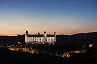 Slovakia, Bratislava, Bratislava Castle at twilight - ABOF00272